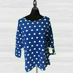 NWT! COLDWATER CREEK DOTTED BLOUSE